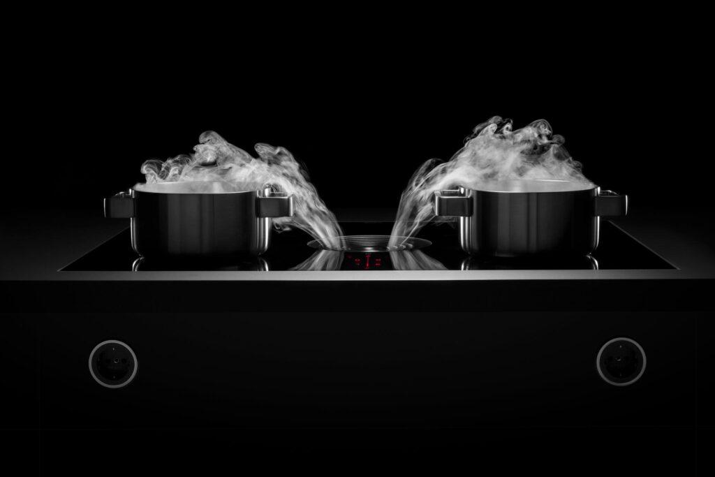 kookplaat met integratie dampkap